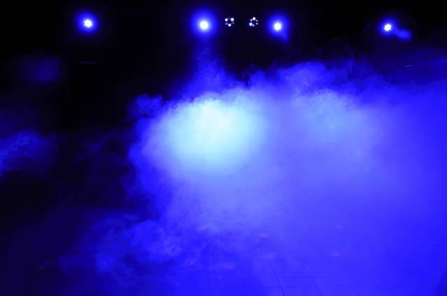 Blau vernebelt