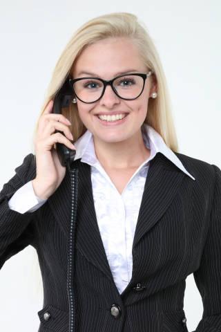 Office Frau mit Telefon