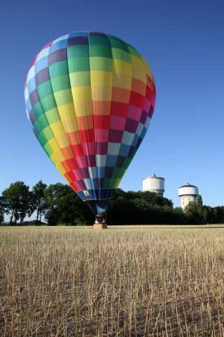 Ballon Landung Hamm Wassertürme