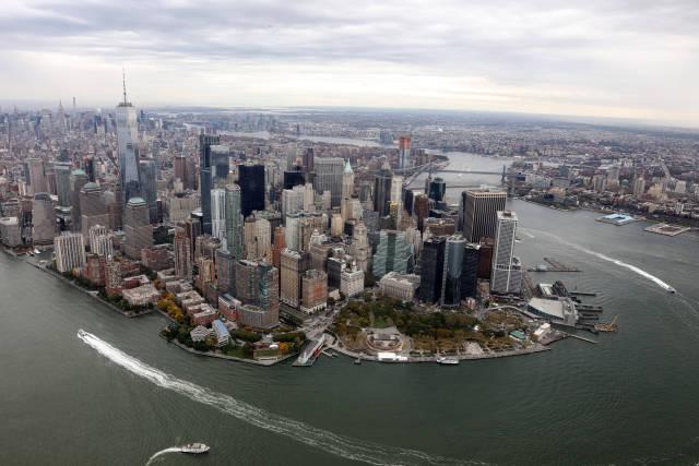 Luftbild von Manhattan