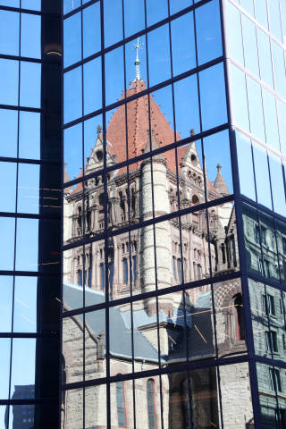 Hancock Tower vs. Trinity Church