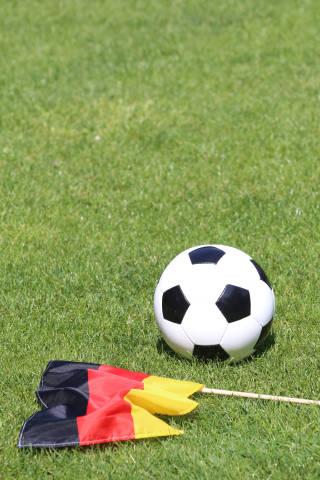Deutsche Fahne und Fußball