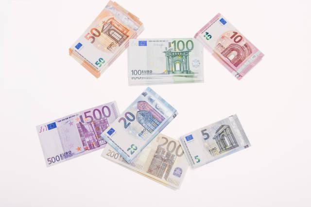 stapelweise Euro