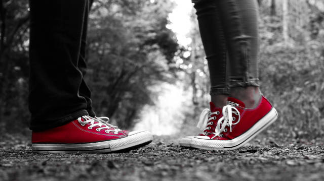 Paar Converse Chucks