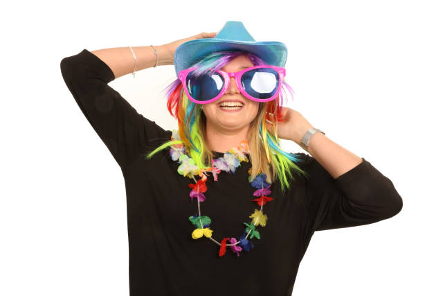 Frau mit Spaßbrille