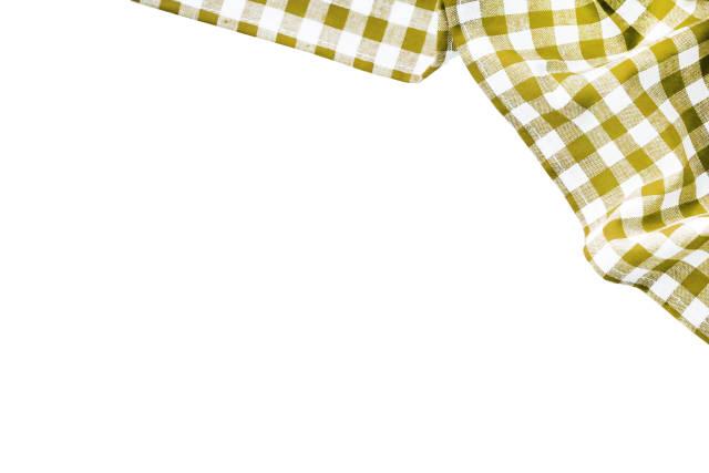 gelb weiß karierter Stoff