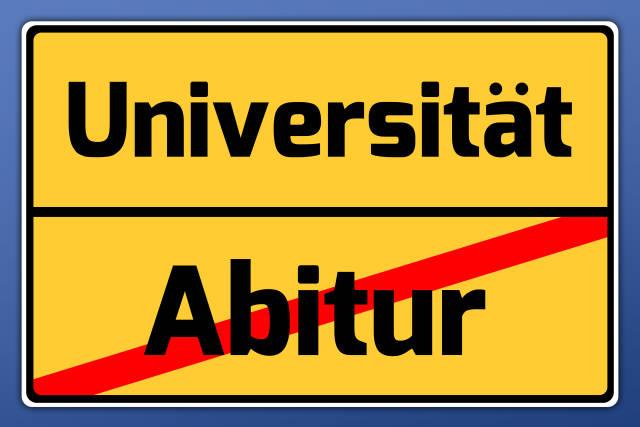 Schild Universität