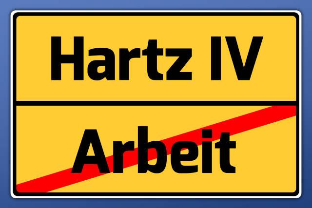 Schild Hartz IV