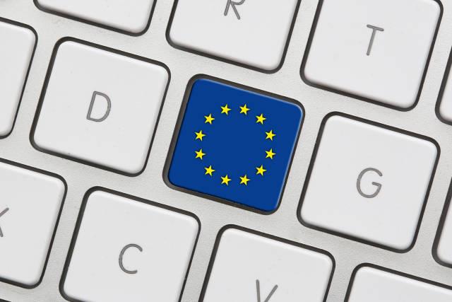 Europazeichen auf Tastatur