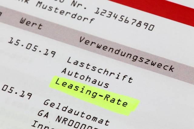 Kontoauszug Leasing-Rate