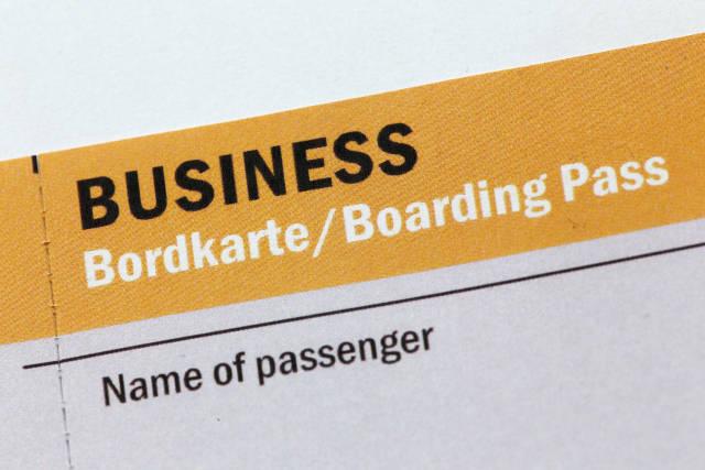 Business Bordkarte
