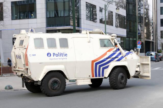Gepanzertes Polizeifahrzeug