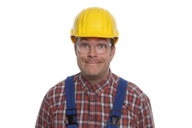 freundlicher Bauarbeiter