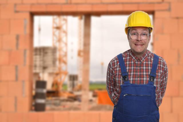 Bauarbeiter im Rohbau