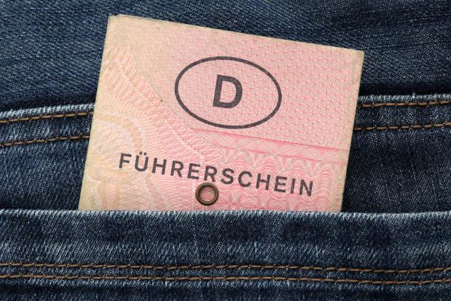 Führerschein in Hosentasche