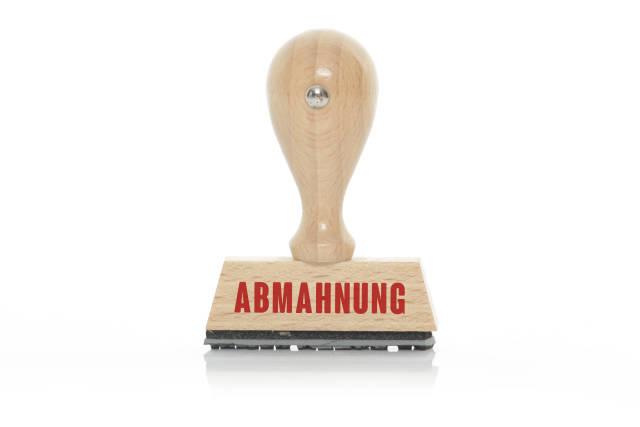 Stempel ABMAHNUNG