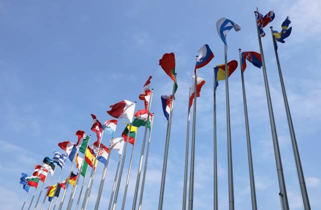 Flaggen der EU-Mitglieder