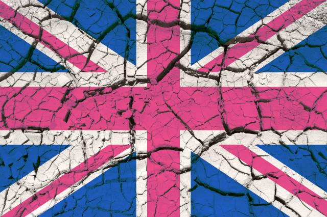 Union Jack aus Steinen