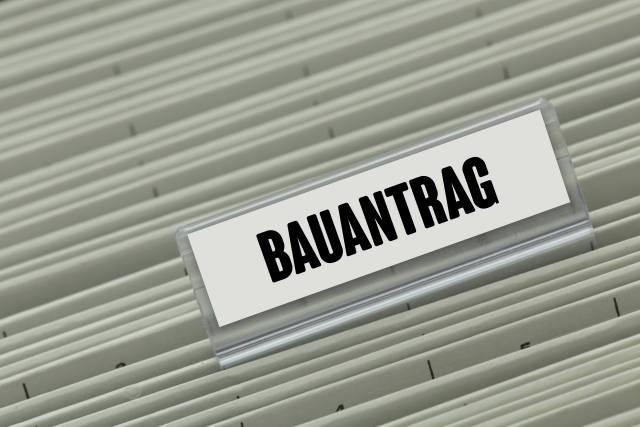 Hängeregister BAUANTRAG