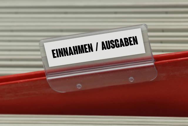 Hängeregister EINNAHMEN / AUSGABEN