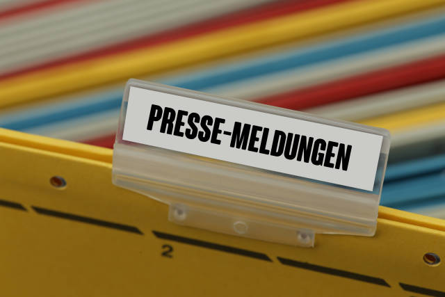 Hängeregister PRESSE-MELDUNGEN