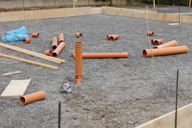 Vorbereitung einer Bodenplatte