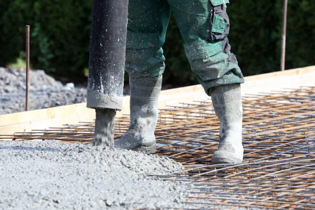 Beto für die Bodenplatte