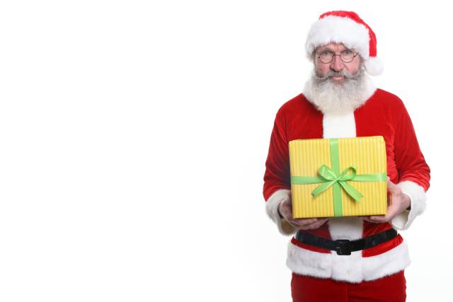 Weihnachtsmann mit Geschenk
