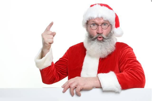 Weihnachtmann mit Zeigefinger