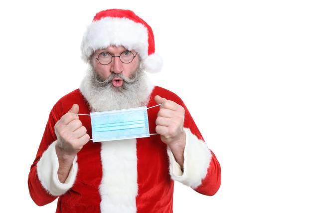 Weihnachtsmann mit Maske