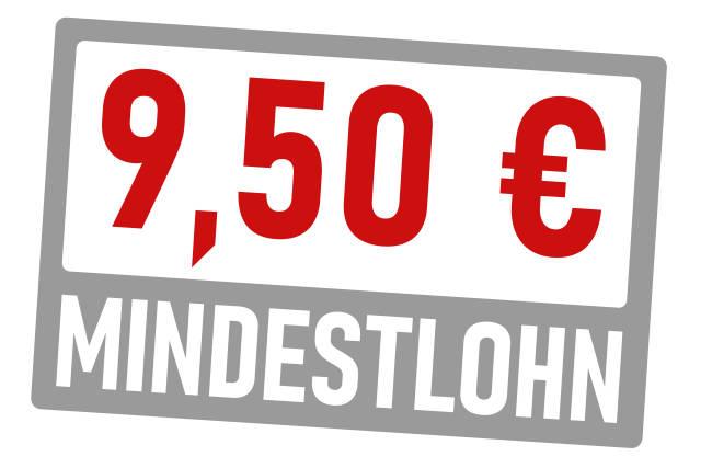 Mindestlohn 9,50 Euro