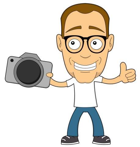 Nerd mit Kamera