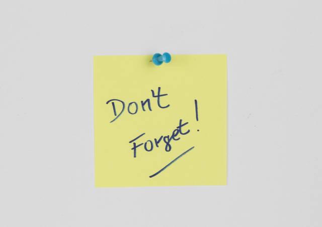 Dont forget reminder