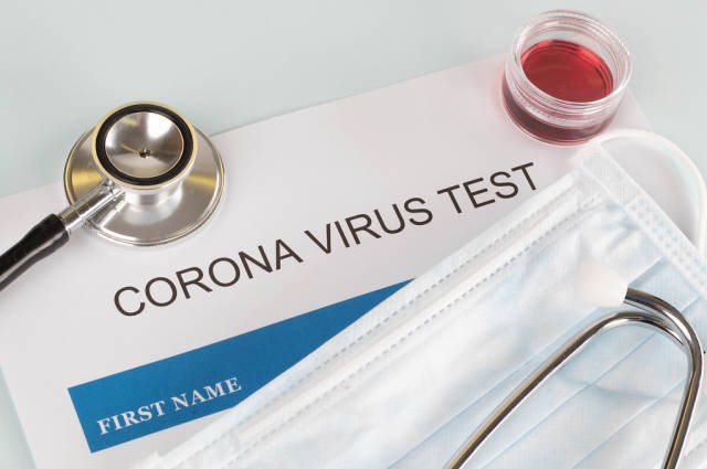 Coronavirus test concept