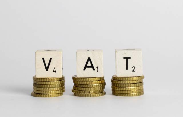 VAT text on coins