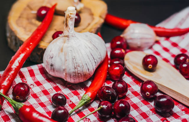 Mix Of Healthy Christmas Food Ingredients