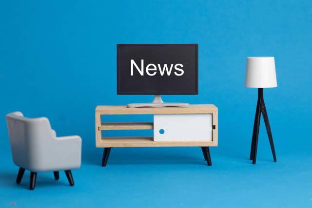News on TV screen