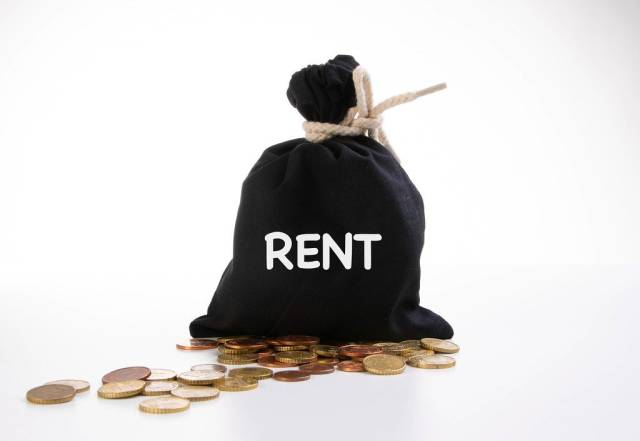 Money bag with Rent text