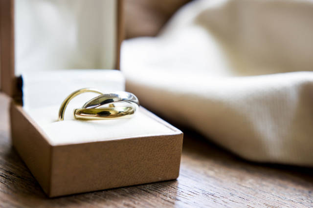 Three color ring for wedding