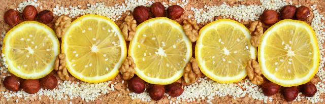 Lemon-Nuss snack