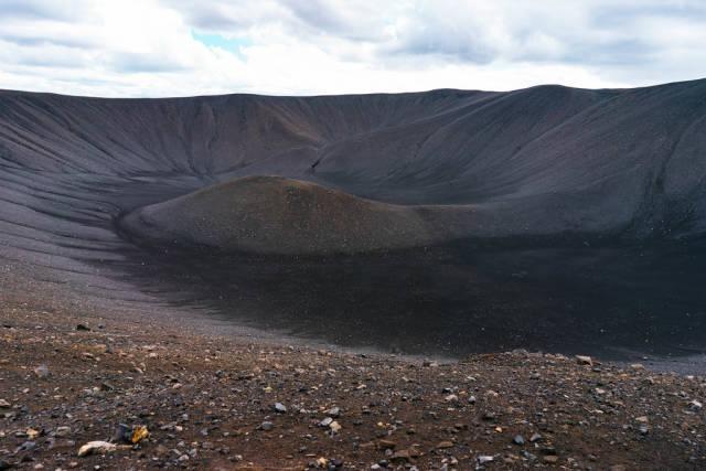 Myvatn volcano crater in Iceland / Myvatn Vulkan Krater in Island