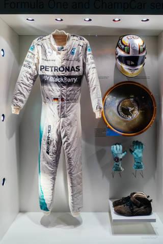 Full racing equipment of F1 world champion Nico Rosberg