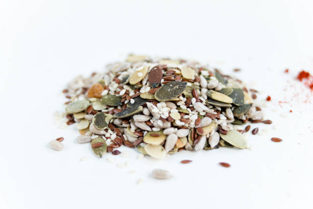 Various seeds , nuts seeds , pumpkin seeds