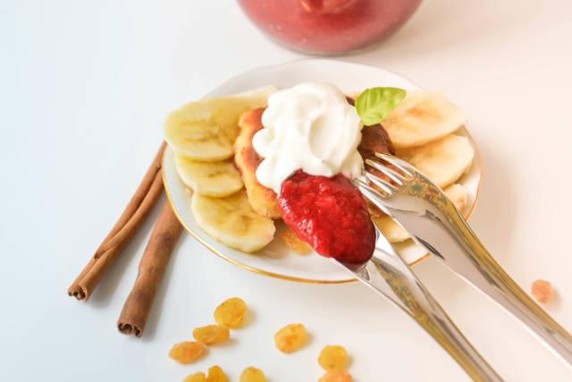 Pfannkuchen mit Banane