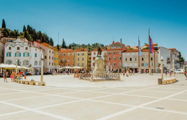 Tartini square in Piran