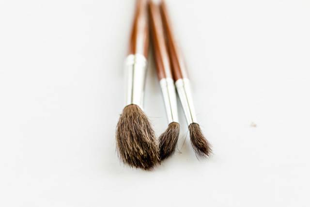 Painting Brushes on white background