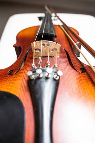 Nahaufnahme einer Violine