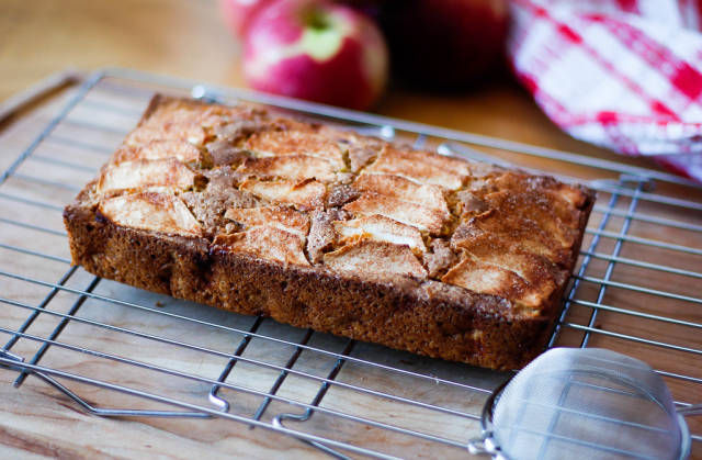 Apple Cake on a Cooling Rack