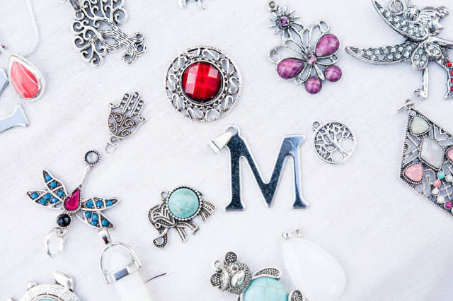 Fancy necklace charms