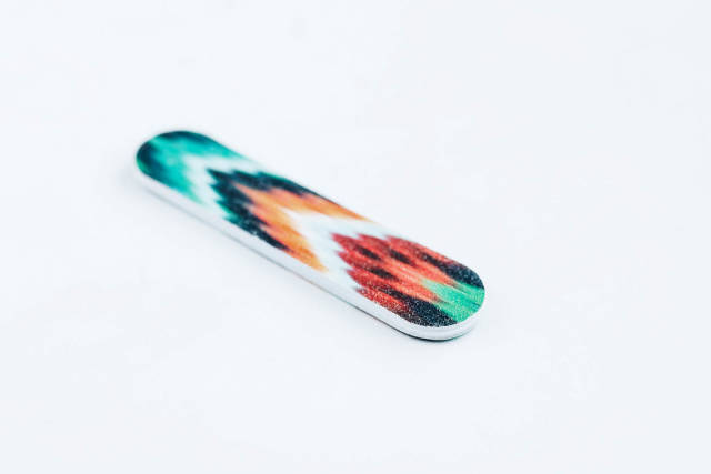 Small nail file on white background